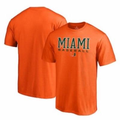 Fanatics Branded ファナティクス ブランド スポーツ用品  Fanatics Branded Miami Hurricanes Orange True Sport Baseball T-Shirt