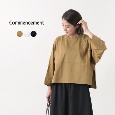 COMMENCEMENT(コメンスメント) ワイドクルー ロングスリーブ Tシャツ / レディース / シンプル ミニマル / 無地