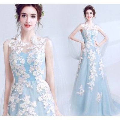 ナイトドレス ワンピース 上品 クオリティー ハイウエスト 高級刺繍 パーティードレス ワンピース ノースリーブ ロング丈ワンピ-ス