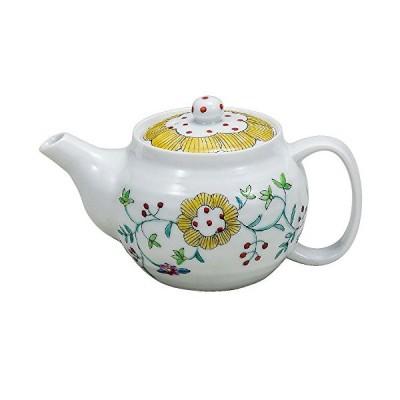 【洗いやすい茶こし網付】 九谷焼 ポット 急須 花唐草紋 陶器 和食器 茶器 日本製