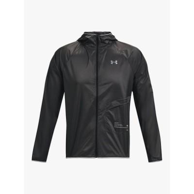 アンダーアーマー ジャケット&ブルゾン メンズ アウター Under Armour Qualifier Storm Men's Packable Running Jacket, Jet Grey