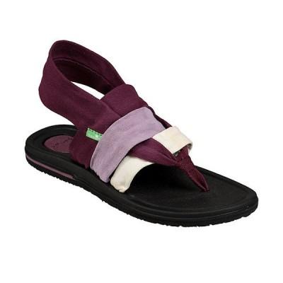 サヌーク サンダル レディース シューズ Sanuk Women's Yoga Sling 3 Sandal Gradient Prune