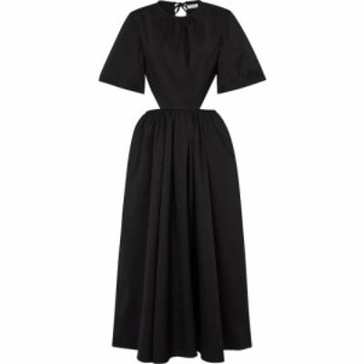 デヴォー ニューヨーク Deveaux New York レディース ワンピース ミドル丈 ワンピース・ドレス Cut-out poplin midi dress Black