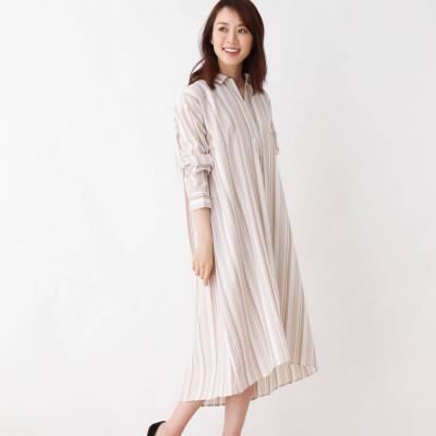 pink adobe(ピンクアドベ)/防シワ・Aラインシャツワンピース