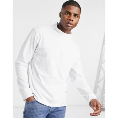 ウィークデイ メンズ ニット・セーター アウター Weekday Dorian turtleneck sweater in white