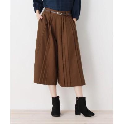 SHOO・LA・RUE/DRESKIP(シューラルー/ドレスキップ) ベルト付プリ-ツ半端丈パンツ