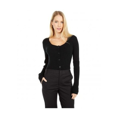 Vince ヴィンス レディース 女性用 ファッション セーター Square Neck Cardigan - Black