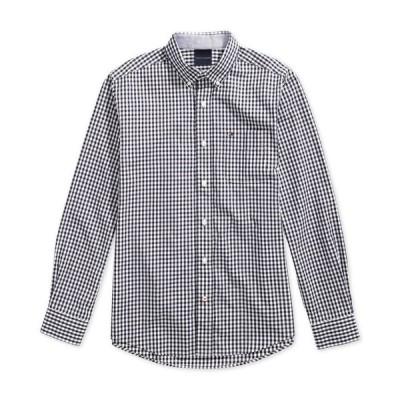 トミー ヒルフィガー メンズ シャツ トップス Men's Twain Check Shirt with Magnetic Buttons