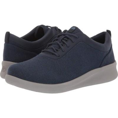 クラークス Clarks レディース スニーカー シューズ・靴 Sillian 2.0 Pace Navy Textile