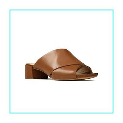 Clarks Women's Sheer 35 Mule Heeled Sandal, Tan Leather, 7.5【並行輸入品】