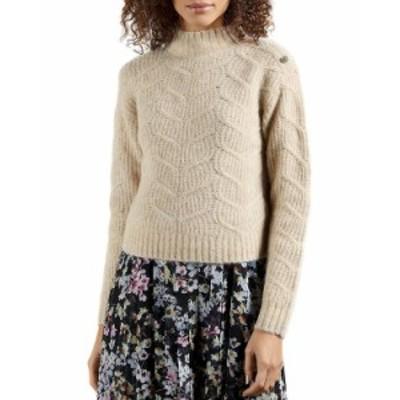 テッドベーカー レディース ニット・セーター アウター Cable Knit Sweater Camel