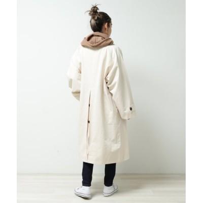 DOUBLE NAME / 後ろ釦ロングコート WOMEN ジャケット/アウター > その他アウター