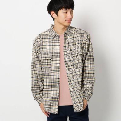 THE SHOP TK(Men)(ザ ショップ ティーケー:メンズ)/起毛チェック長袖シャツ