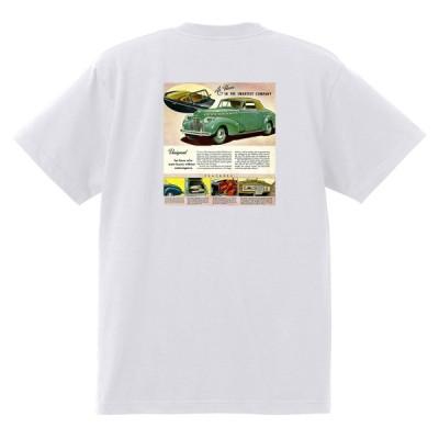 アドバタイジング シボレー Tシャツ 175 白 1940 オールディーズ 1950's 1960's ローライダー ホットロッド トラックワゴン