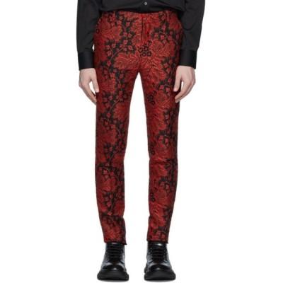 アレキサンダー マックイーン Alexander McQueen メンズ ボトムス・パンツ Black & Red Jacquard Ivy Creeper Trousers Black/Red