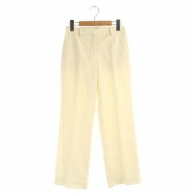 【中古】プラステ PLST 20AW パンツ スラックス ウールブレンド ウォームリザーブ XXS アイボリー レディース