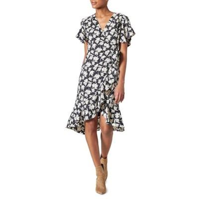 ジョア レディース ワンピース トップス Amelian Floral Short-Sleeve Wrap Dress