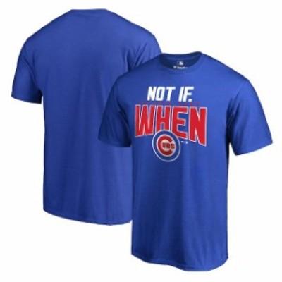 Fanatics Branded ファナティクス ブランド スポーツ用品  Chicago Cubs Royal 2016 Postseason Not If When T-Shirt