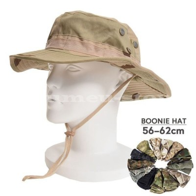 ブーニーハット ジャングルハット ミリタリーハット 帽子 ハット つば広い つば広め カモフラージュ 迷彩 軍服 ミリタリー サバゲー サバイバルゲー