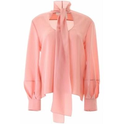 CHLOE/クロエ シルクシャツ TAN ROSE Chloe' striped blouse レディース 春夏2020 CHC20UHT25307 ik