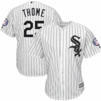 Majestic マジェスティック スポーツ用品  Majestic Jim Thome Chicago White Sox White/Black Hall of Fame Induction Pa