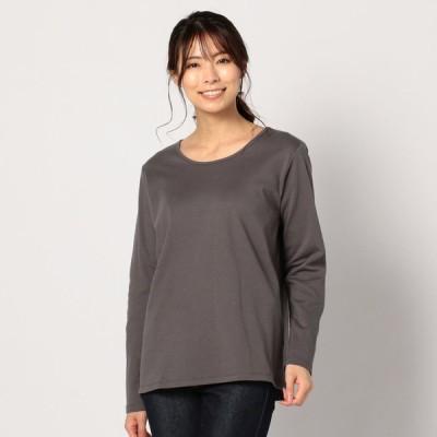 レディース 抗ウイルス加工フルテクトTシャツ ライトグレー M