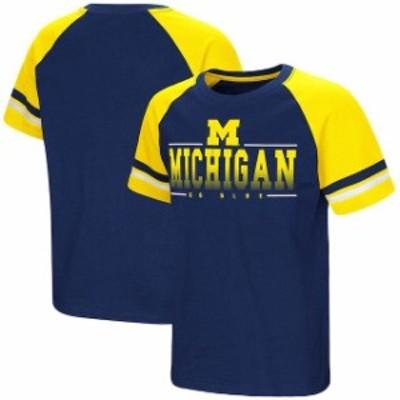 Colosseum コロセウム スポーツ用品  Colosseum Michigan Wolverines Youth Navy Rad Tad Raglan T-Shirt