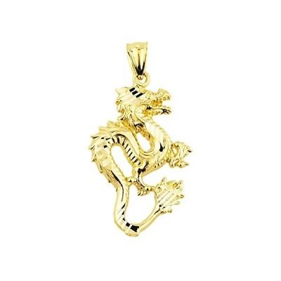 Chinese Dragon 10k Yellow Gold Charm Pendant