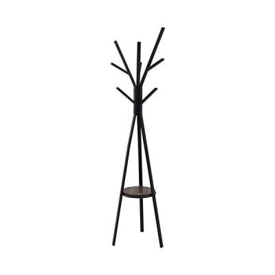 JKプラン ポールハンガー ハンガー ラック 北欧 テイスト おしゃれ 木製 スチール コートかけ 洋服掛け DRT-1006-BK ブラッ