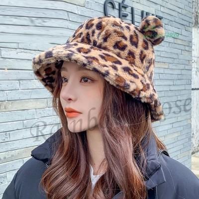 帽子 レディース バケットハット ボアハット つば広帽子 ハット 秋 暖かい 韓国風 もこもこ 贈り物 ギフト 学生 おしゃれ かわいい 冬 彼女 オシャレ
