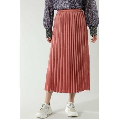 ROSE BUD (ローズバッド) レディース ベルトデザインプリーツスカート ピンク(090) -