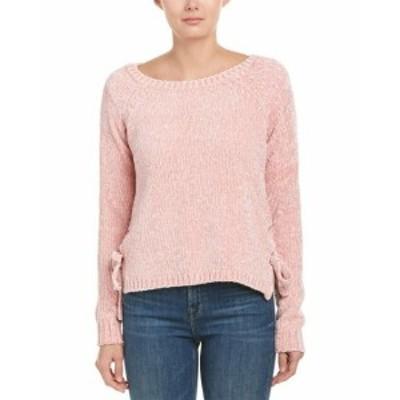 ファッション トップス Jella C Chenille Lace-Up Sweater M Pink
