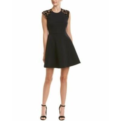 ファッション ドレス Maje Lace A-Line Dress 3 Black