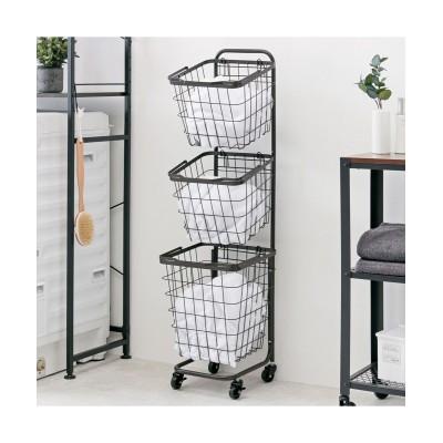 持ち運びできるスクエア型バスケットワゴン サニタリーラック・チェスト, Sanitary storages(ニッセン、nissen)