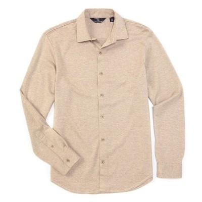 ハートシャファネールマークス メンズ シャツ トップス Long-Sleeve Herringbone Coatfront Brown