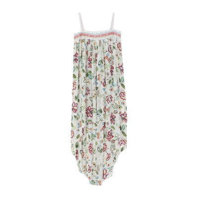 AMOË ロングワンピース&ドレス アイボリー S シルク 100% ロングワンピース&ドレス