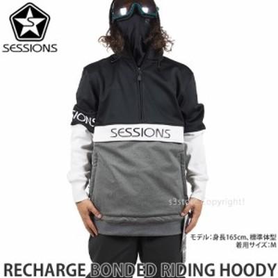 21model セッションズ RECHARGE BONDED RIDING HOODY カラー:BLACK