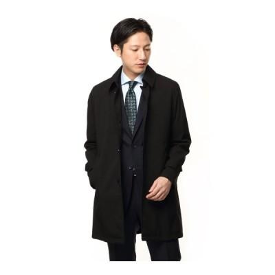 秋冬用 ブラック系 ステンカラースタイリッシュコート【合繊】 Mr.JUNKO II世