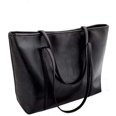 ImageStyle(イメージスタイル) 大きい トートバッグ ハンドバッグ ビジネスバッグ 肩掛け ショルダーバッグ レディース 鞄 (黒