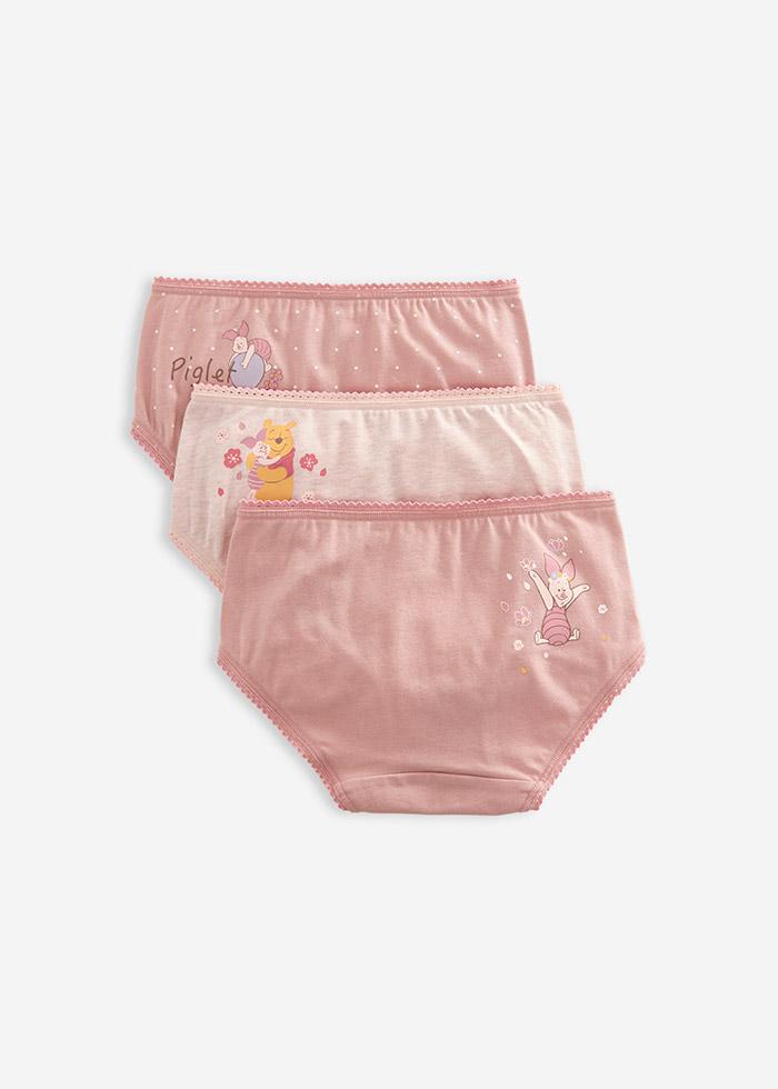 (女童三入組)迪士尼系列.花邊緊帶三角內褲(氣球/櫻花/維尼小豬)