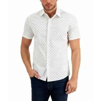 マイケルコース メンズ シャツ トップス Men's Regular-Fit Stretch Dot-Print Shirt White