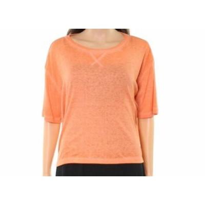 ファッション トップス Abound NEW Orange Womens Size Large L Ribbed Cropped High-Low Knit Top 745