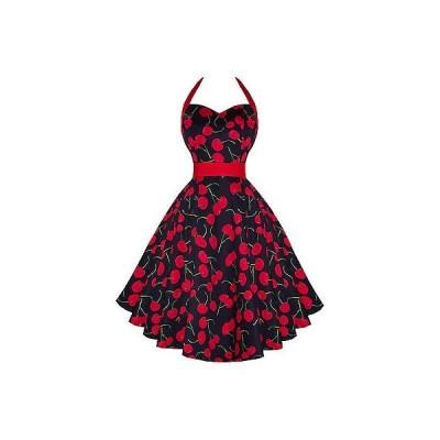 ハーツアンドローズロンドン ドレス ワンピース ハートs ローズs London ブラック Cherry Rockabilly ビンテージ 50s Flaレッド Sun ドレス UK