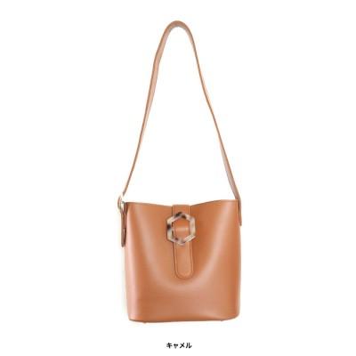 グローウィングリッチ GROWING RICH [バッグ 鞄]マーブルバックルバケツ型バッグ[191038] (キャメル)