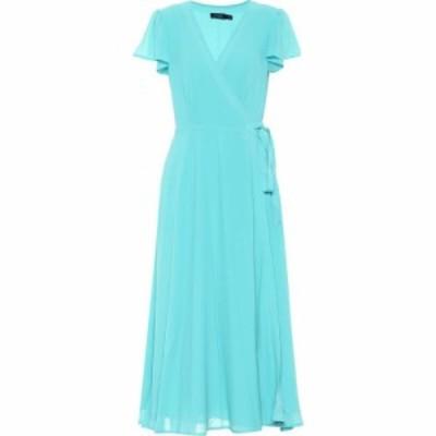 ラルフ ローレン Polo Ralph Lauren レディース ワンピース ワンピース・ドレス Crepe De Chine Midi Dress Spa Turquoise Blue
