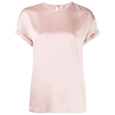 ブルネロクチネリ Tシャツ トップス カットソー レディースBrunello Cucinelli short sleeved T-shirtPink