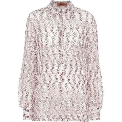 ミッソーニ Missoni レディース ブラウス・シャツ トップス Crochet-knit shirt brown