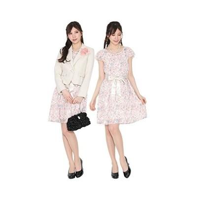(ブティックユリア) Boutique Yuria 春色の花柄 フォーマル アンサンブル スーツ 大きいサイズ 7号