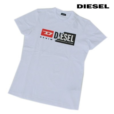 DIESEL ディーゼル Tシャツ 半袖 プリント Tシャツ メンズ T-DIEGO-CUTY WHITE 2020 秋モデル