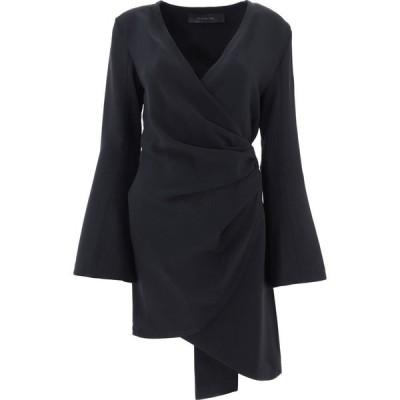 フェデリカ Federica Tosi レディース ワンピース ラップドレス ワンピース・ドレス Wrap Asymmetrical Dress Black